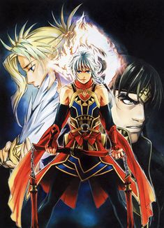 View an image titled 'Lucretia, Prince, & Georg Art' in our Suikoden V art gallery featuring official character designs, concept art, and promo pictures. Suikoden, Video Game Characters, Fictional Characters, Game Character Design, Online Collections, Animal Crossing, Game Art, Videogames, Bleach