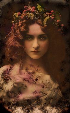 AmberRose by *Bohemiart on deviantART. Subject of original photo, actress Maude Fealy.