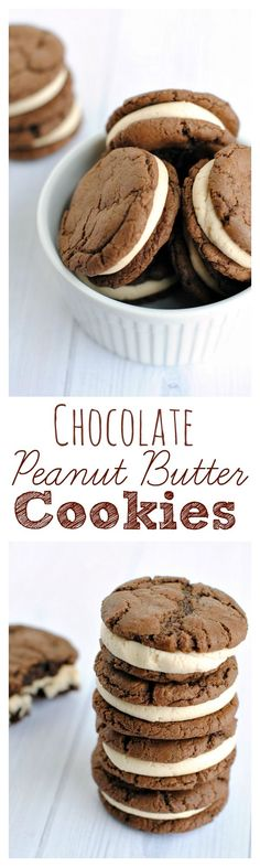 Amazing Chocolate and Peanut Butter Sandwich Cookies!