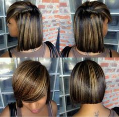Nice cut & color - Relaxed hair and hairstyles… Love Hair, Great Hair, Gorgeous Hair, Relaxed Hair, Bob Hairstyles, Straight Hairstyles, Black Hairstyles, Evening Hairstyles, Spring Hairstyles