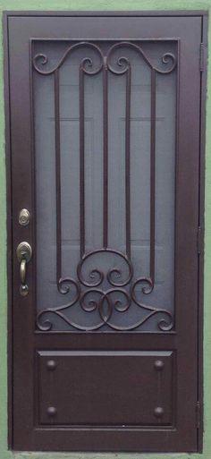 Steel Gate Design, Front Gate Design, Door Gate Design, Wrought Iron Gate Designs, Wrought Iron Doors, Door Grill, Window Grill Design, Modern Exterior Doors, Wood Exterior Door