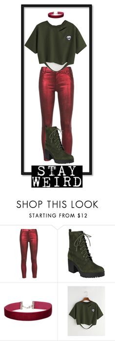 """""""Stay Weird"""" by headless-chicken-on-the-run ❤ liked on Polyvore featuring RtA and Miss Selfridge"""