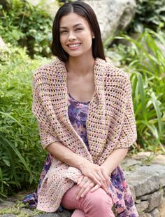 """Afternoon Breeze Shawl - This mesh cotton shawl is light and breezy -- perfect for a cool spring day.  SKILL LEVEL:  Beginner   SIZE: About 20 x 67"""" (51 x 170 cm)  Materials: Nature's Choice Organic Cotton 100% Organically Grown Cotton 6 balls, N hook (hdc stitch)  free pdf from Lion Brand"""
