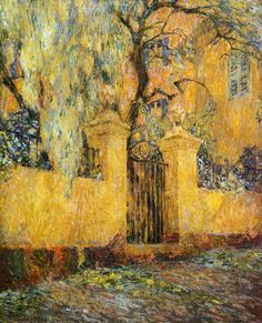 The Gates of Morning's Release  \\ Henri Eugene Augustin Le Sidaner (1862 - 1939) - French painter, who works by pastel.