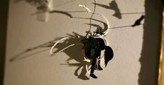 Detail from hand cut silhouette paper assemblage. Assemblages, Silhouette, Detail, Paper, Art, Art Background, Kunst, Performing Arts, Silhouettes