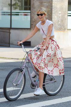Karlie Kloss Gucci skirt