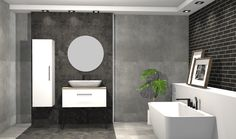 Praca konkursowa z wykorzystaniem mebli łazienkowych z kolekcji FUTURIS #naszemeblenaszapasja #elitameble #meblełazienkowe #elita #meble #łazienka #łazienkaZElita2019 #konkurs Mirror, Bathroom, Furniture, Design, Home Decor, Washroom, Decoration Home, Room Decor, Mirrors