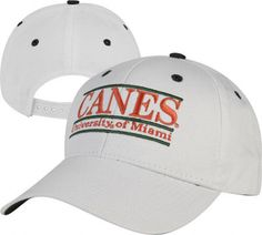 Miami Hurricanes 'The Game' Classic White Nickname Bar Adjustable Hat