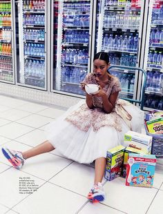 Dominique + Adau Mornyang Serve - Supermarket Chic in Elle South Africa:イイね。
