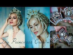 DIY Princess Crown using a Necklace Wedding Hair Accessories, Diy Accessories, Costume Accessories, Fairy Headpiece Diy, Diy Tiara, Fairy Crown, Metal Crown, Mermaid Crown, Wedding Glasses