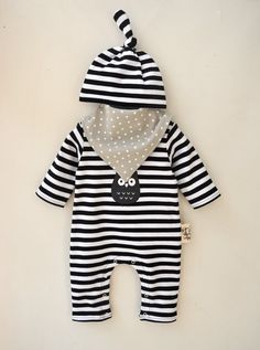 2e13b7e41bf8 Long sleeve Onesie Comes with Hat and Bib. Baby Boy RomperBaby ...