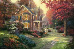 Thomas Kinkade - Victorian Autumn  2005