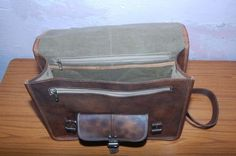 Leather Briefcase Leather Messenger bag Mens by GenuineGoods786, $95.00