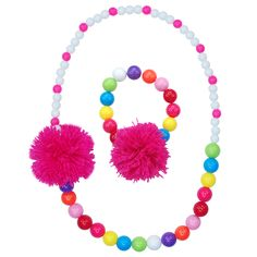 NBG111 Pom Pom party necklace