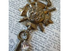 Assemblage Necklace English Royal Coat of by transienttreasures, $62.00
