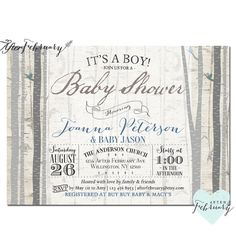 rustic baby shower invitation baby boy shower by