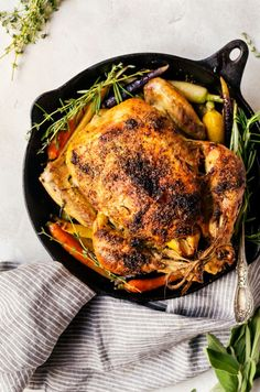 A tender and juicy garlic roasted chicken that will easily become a favorite in your weekly dinner rotation. Serve with fluffy mashed potatoes gravy!