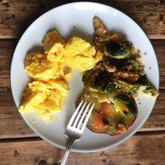 Ignore all the other random stuff on my plate (hazelnut? sweet potato?) and focus on those eggs.