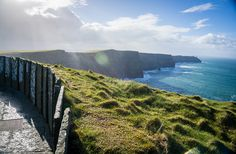 """The Cliffs of Moher in Ireland: 8 Visiting Tips - Around the World """"L"""" Ireland Vacation, Ireland Travel, Places To Travel, Places To See, Travel Destinations, Eco City, Cliffs Of Moher, Galapagos Islands, Emerald Isle"""