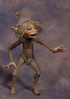 Troll Teasing Pixie by Wendy Froud