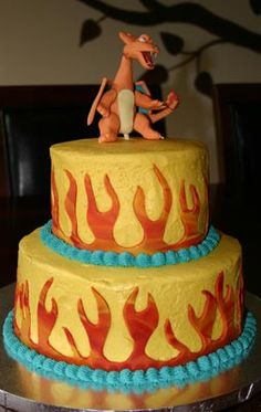 Cole's Charizard Cake (09) | by jumpinmonkies