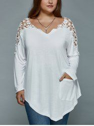 SHARE & Get it FREE | Plus Size Lace Splicing Asymmetric T ShirtFor Fashion Lovers only:80,000+ Items • New Arrivals Daily • Affordable Casual to Chic for Every Occasion Join Sammydress: Get YOUR $50 NOW!