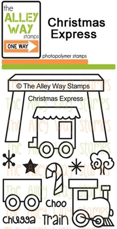 Christmas Express stamp set, TAWS, The Alley Way Stamp, Clear Stamps
