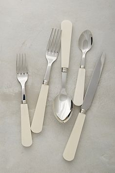 Landes Flatware - stainless steel and acrylic #thanksgiving