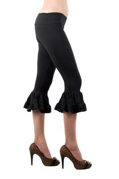 Bloomers  Black Bloomers  Ruffled Bloomers  Leggings  by eleven44, $62.00