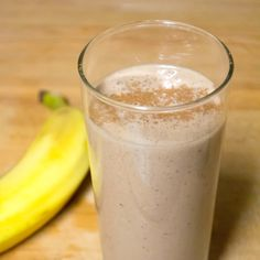 Looking for a healthier dessert? Toss a banana into the freezer right before dinner and you'll be ready to make this smoothie as soon as you're done!