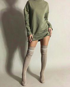 - ̗̀★Fatima The Ladybird★ ̖́- Fashion Moda, Love Fashion, Womens Fashion, Fall Winter Outfits, Autumn Winter Fashion, Casual Outfits, Cute Outfits, Mode Top, Dressed To Kill