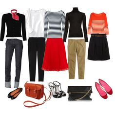 All these outfits would make me want to speak with a french accent; but, they're so cute! Love them!