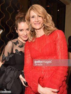 Laura Dern in Valentino & her daughter Jaya at the Golden Globes 2019 Golden Globe Award, Golden Globes, Valentino, Daughter, Ruffle Blouse, Tops, Women, Fashion, Moda