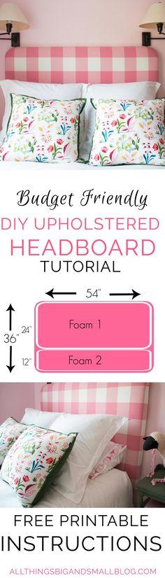 New diy furniture bedroom headboard projects 33 ideas Diy Headboards, Diy Upholstered Headboard, Headboard Ideas, Diy Furniture Upholstery, Furniture Projects, Bedroom Furniture, Diy Projects, House Projects, Furniture