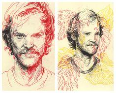 Sketchbook Portraits - Rupert Smissen Illustration