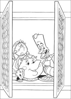 coloring page Beauty and the Beast Kids-n-Fun