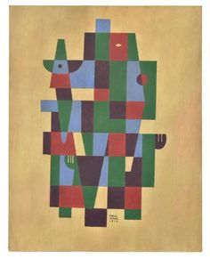 Found on EstateSales.NET: LOT 76: CARLOS MERIDA (Mexican, 1891-1984) Untitled, 1979 Acrylic on paper