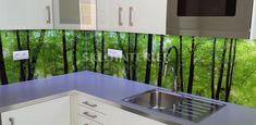 sklenená zástena do kuchyne