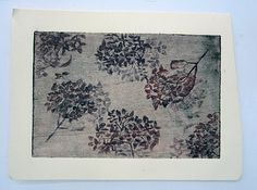 floral etching print