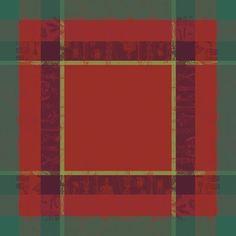 Noel Illustre Rouge Christmas Tablecloth