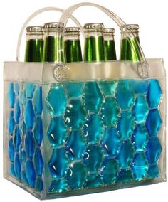Chill It Bags Beer Cooler Bag Blue - They also make them for wine bottles! Beach Drinks, Summer Drinks, Summer Fun, Summer Loving, Summer Picnic, Dandy, Chill Bag, Materiel Camping, Beer Cooler