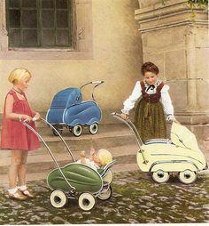1952 Werbung für Puppenwagen by diepuppenstubensammlerin, via Flickr