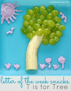 letter of the week snacks t is for tree - #kids #snack