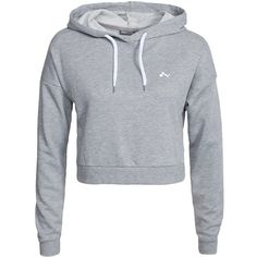 Only Play Onplavina Cropped Sweat ($36) ❤ liked on Polyvore featuring tops, hoodies, sweatshirts, jumpers & cardigans, light grey melange, sports fashion, womens-fashion, sport sweatshirts, sweatshirts hoodies e hooded sweatshirt