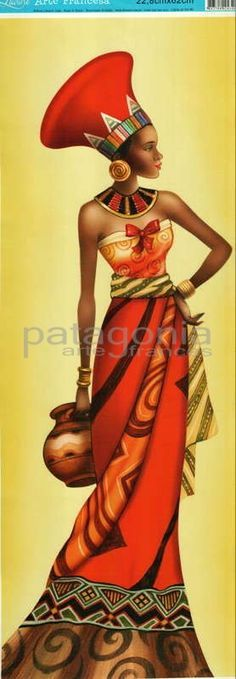 This Pin was discovered by Nac African Beauty, African Women, African Girl, Woman Painting, Fabric Painting, Tableaux Vivants, Afrique Art, African Art Paintings, African Theme