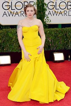 Lena Dunham - style file {I loved this dress especially the color!}
