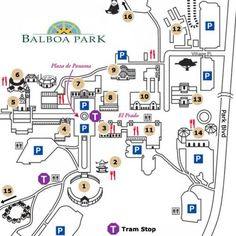 See a map of San Diego's Balboa Park and read a brief description of it. This picture is part of a multi-page pictorial walking tour of Balboa Park.