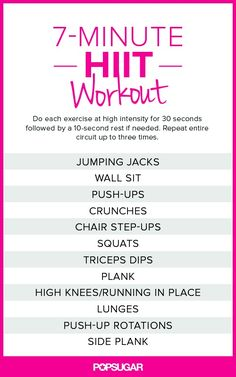 journals.lww.com/... 7-Minute HIIT Workout Printable Poster Image from: www.fitsugar.com/...
