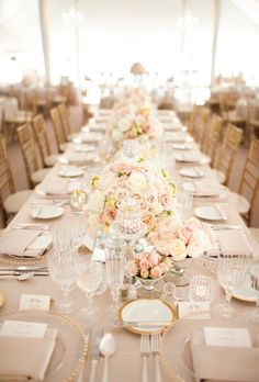Decor: Table / White, Pink & Gold