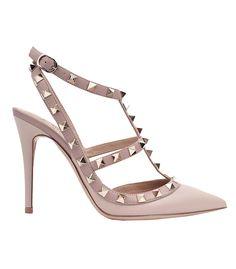 Modern Pink at #ShopBAZAAR – Valentino Rockstud Ankle Strap Heel